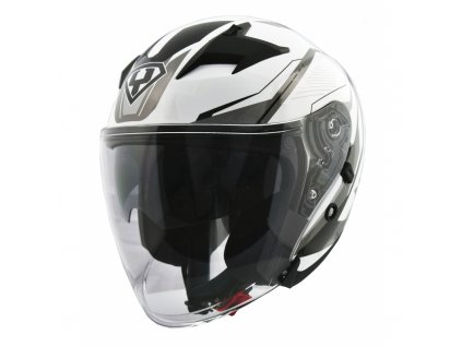 moto helma yohe 878 1m graphic white