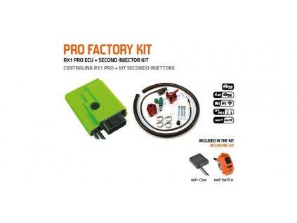 PRO FACTORY KIT řídící jednotky RX1 PRO s přepínačem MAP a druhým vstřikovačem, GET (kit-ECU+přepínač MAP+WifiCOM+vstřikovač č.2)