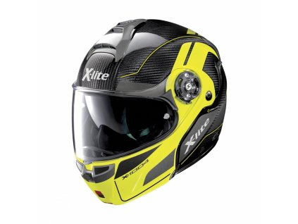 moto helma x lite x 1004 ultra carbon charismatic n com led yellow chin guard 14