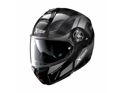 moto helma x lite x 1004 ultra carbon charismatic n com glossy black chin guard 13