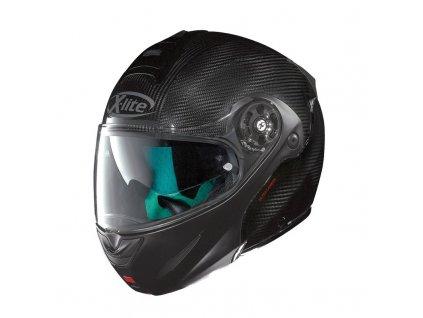 moto helma x lite x 1003 ultra carbon dyad flat black 1