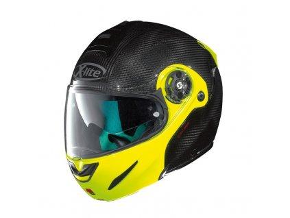 moto helma x lite x 1003 ultra carbon dyad fluo yellow 3