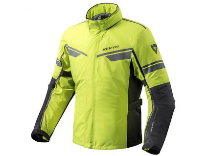 motorcycle jacket revit fabric guardian h2o neon yellow black 22422