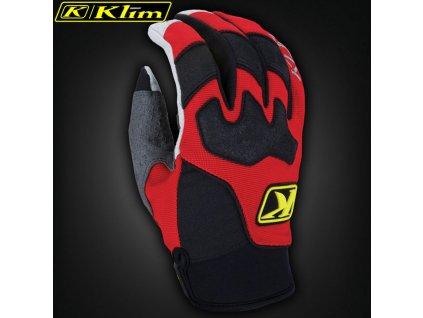 Klim Dakar Gloves Red detail 1 31676.1481946320