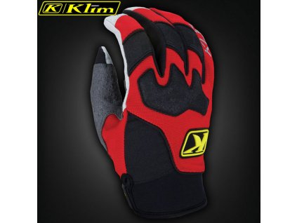 Klim Dakar Gloves Red detail 1 31676.1481946320