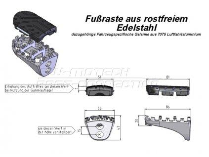 SW-Motech - stupačky - sada HONDA XRV 650/750, XL 600 V