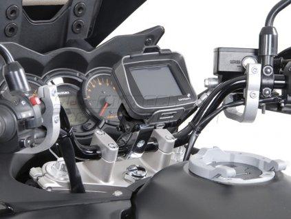 SW-Motech - Odpružený držák GPS pro řídítka 25,4 mm stříbrný