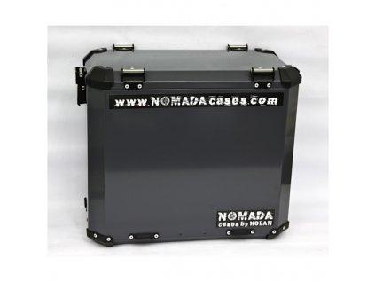 Hliníkový kufry Holan - Nomada Pro - boční kufr - černý/šedý
