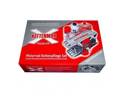 KETTENMAX PREMIUM - Pračka na motocyklové řetězy - kompletní sada včetně čističe a spraye
