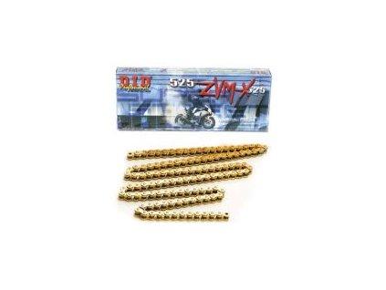 DID řetěz 525ZVMX-118 článků -zlatý