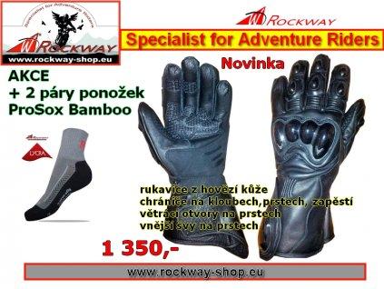 Kožená rukavice Traveler - Rockway