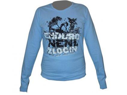 Dámské tričko Enduro není zločin-světle modré - dlouhý rukáv