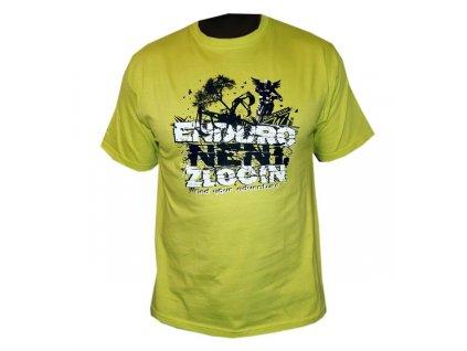 Dámské tričko Enduro není zločin-limetka