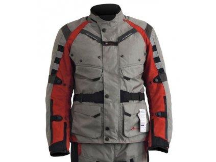 Bunda na motorku ROCKWAY LONER - celoroční bunda - červená