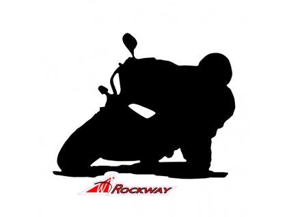 Samolepka na auto s motivem motorky