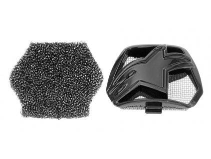 Kryt bradové ventilace pro přilby SUPERTECH S-M10 a S-M8, ALPINESTARS (černá, vč. uhlíkového filtru)