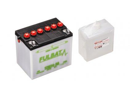 Baterie 12V, 12N24-3A, 24Ah, 240A, pravá, konvenční, 184x124x175, FULBAT (vč. balení elektrolytu)
