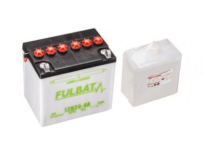 Baterie 12V, 12N24-4A, 24Ah, 240A, levá, konvenční, 184x124x175, FULBAT (vč. balení elektrolytu)