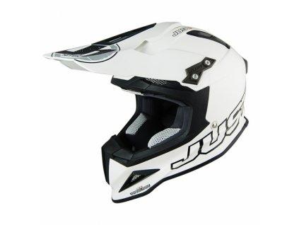 Moto přilba JUST1 J12 solid bílá