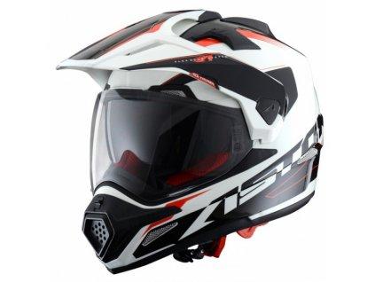 Moto přilba ASTONE CROSS TOURER ADVENTURE bílo/černá