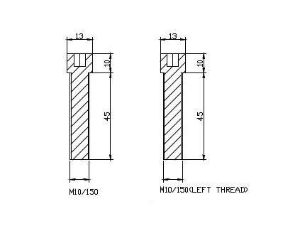 Adaptér na zpětné zrcátko PUIG ADAPTER M10/150 RIGHT/LEFT REAR MIRROR HI-TECH B černý to handlebar