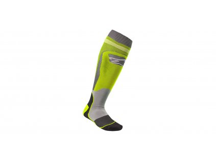 Ponožky MX PLUS-1 2022, ALPINESTARS (žlutá fluo/šedá)