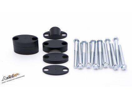 Zvýšení řidítek ACCEL +39mm průměr 28,6mm černé
