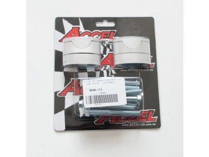 Zvýšení řidítek ACCEL +39mm průměr 28,6mm stříbrné