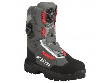 Adrenaline Pro GTX BOA Boot | KLIM | Rockway - ASPHALT HIGH RISK RED
