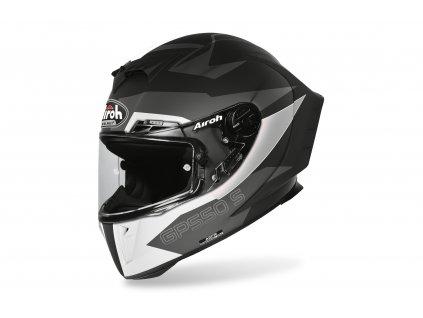 Přilba GP 550S VECTOR, AIROH - Itálie (černá/bílá/stříbrná-matná) 2021