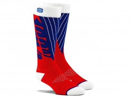 Ponožky TORQUE 100% (červená/modrá)