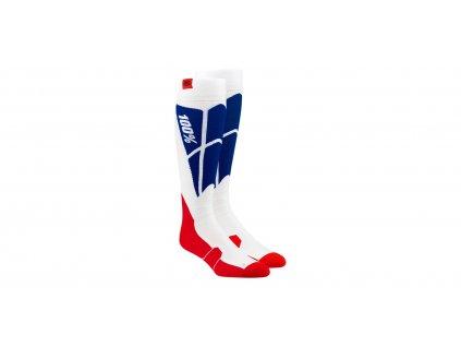 Ponožky Hi-SIDE 100% (bílá/modrá)