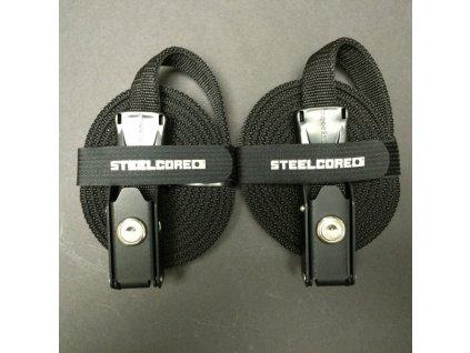 Bezpečnostní popruhy STEELCORE 2,74m černý