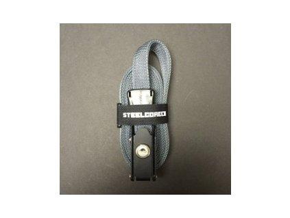 Bezpečnostní popruh STEELCORE 1,37m šedý