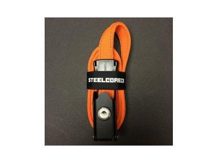 Bezpečnostní popruh STEELCORE 1,37m oranžový
