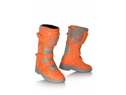 ACERBIS boty na motorku dětské X-TEAM JR- šedooranžové