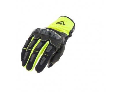 acerbis rukavice carbon 3 0 šedočerné fluo žlutá 1