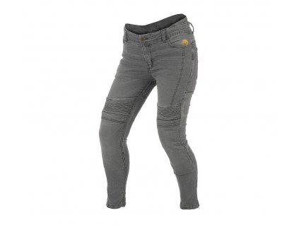 Dámské džíny na moto Trilobite 1665 Micas Urban grey