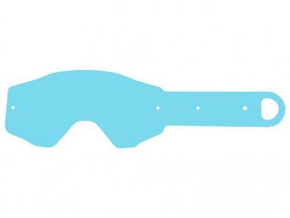 Strhávací slídy plexi pro brýle ETHEN řady 06, Q-TECH (10 vrstev v balení, čiré)