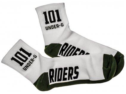 Ponožky ACTION, 101 RIDERS (zelená/bílá)