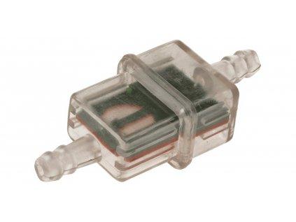 Palivový filtr hranatý s kovovým sítkem, Q-TECH (pro vnitřní průměr hadice 5-6 mm)
