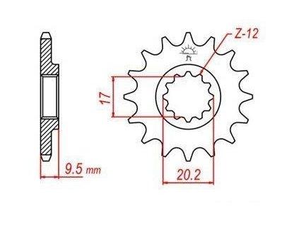 Řetězové kolečko pro sekundární řetězy typu 420, Q-TECH (13 zubů)