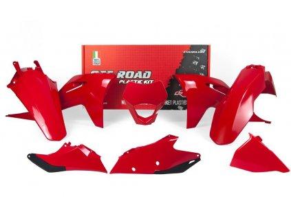 Sada plastů Gas Gas, RTECH (červená, 6 dílů vč. přední masky)