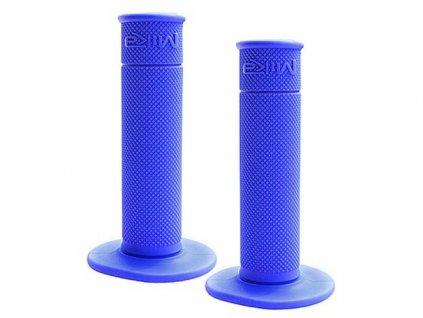 "Gripy motokrosové ""50/50 WAFFLE GRIPS"" (soft), MIKA (tmavá modrá)"