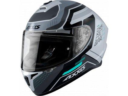 Integrální helma AXXIS DRAKEN ABS cougar a2 šedá matná L