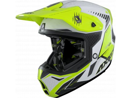 Motokrosová helma AXXIS WOLF ABS star track a3 lesklá fluor žlutá L