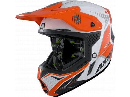 Motokrosová helma AXXIS WOLF ABS star track a4 lesklá fluor oranžová M