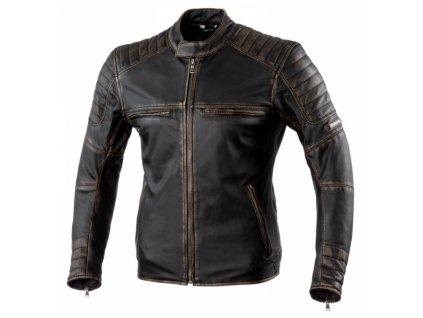 Moto bunda REBELHORN HUNTER PRO vintage černá kožená