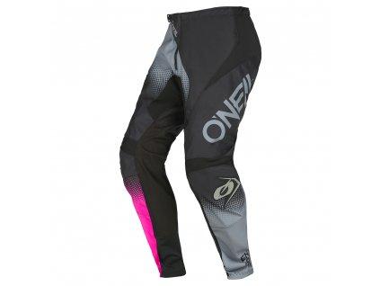Dámské kalhoty O´Neal Element RACEWEAR černá/šedá/růžová