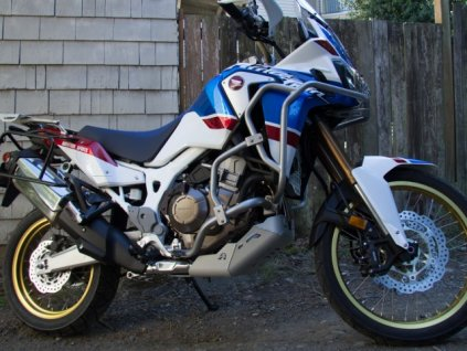 installed altrider crash bars for the honda crf1000l africa twin adventure sports 7